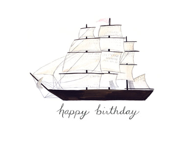 Clipper Ship Birthday Card