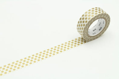 Dot S Gold Washi Tape