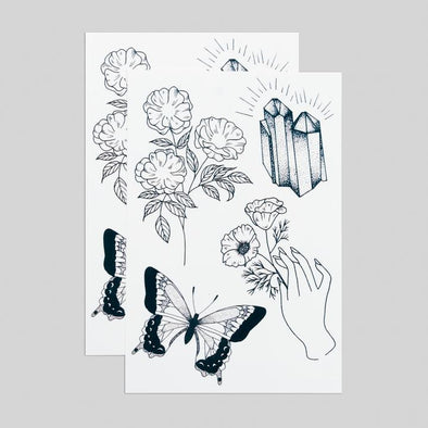 Earthly Gems Temporary Tattoo Sheet