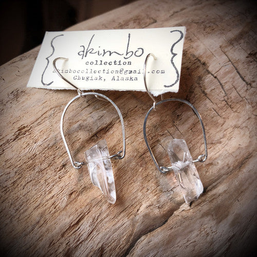 Springtime Fern Quartz Earrings