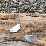 Round Moon Earrings
