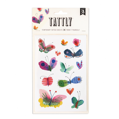 Butterfly Frenzy Temporary Tattoo Sheet