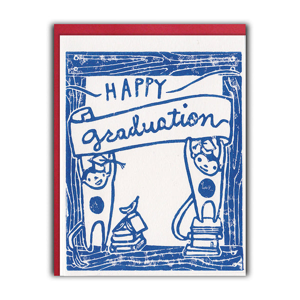 Framed Monkeys Graduation Card