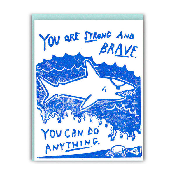Like a Shark with an Eyepatch Encouragement Card