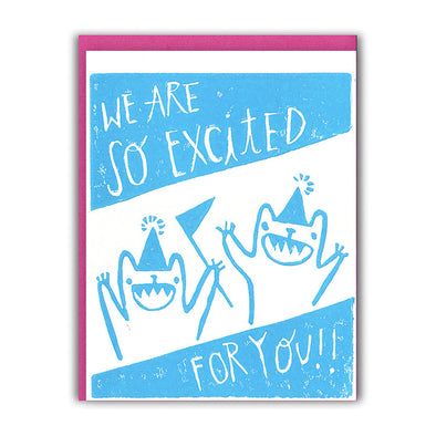 Excited Bears Congratulations Card