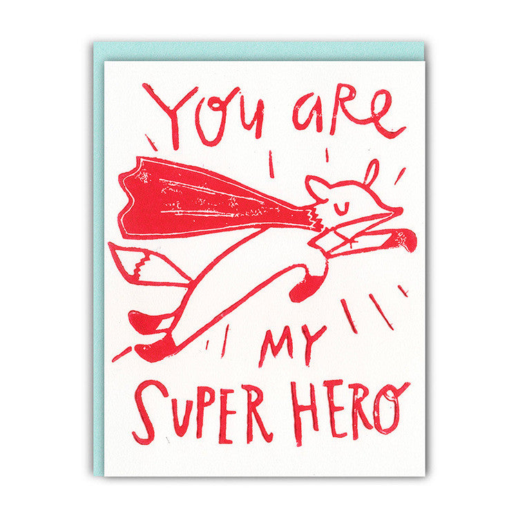 You're My Superhero Love/Friendship Card