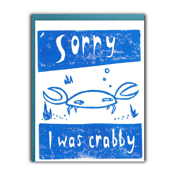 Crabby I'm Sorry Card