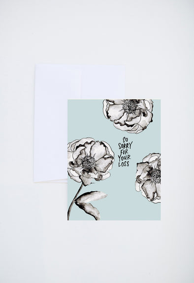 Sorry For Your Loss Floral Card