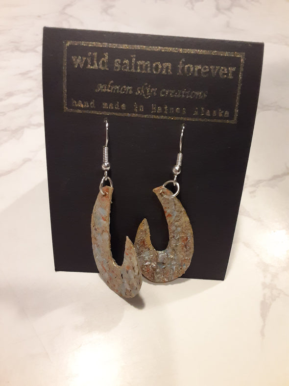 Gold Fish Hook Earrings