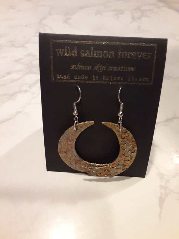 Large Gold Moon Earrings