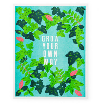 Grow Your Own Way Riso Print