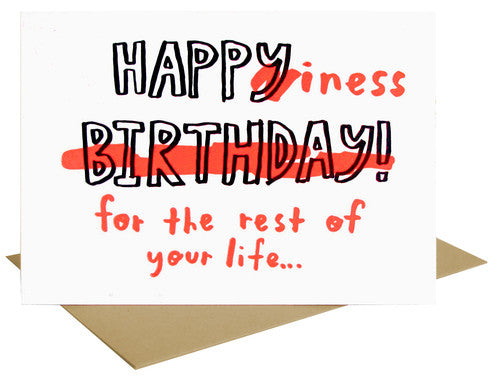 Happiness Birthday Letterpress Card