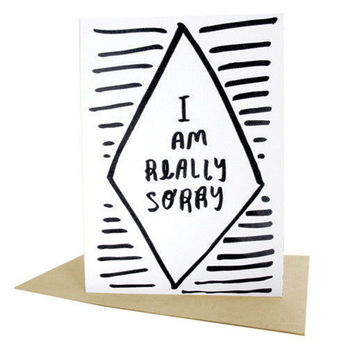 I Am Really Sorry Letterpress Card