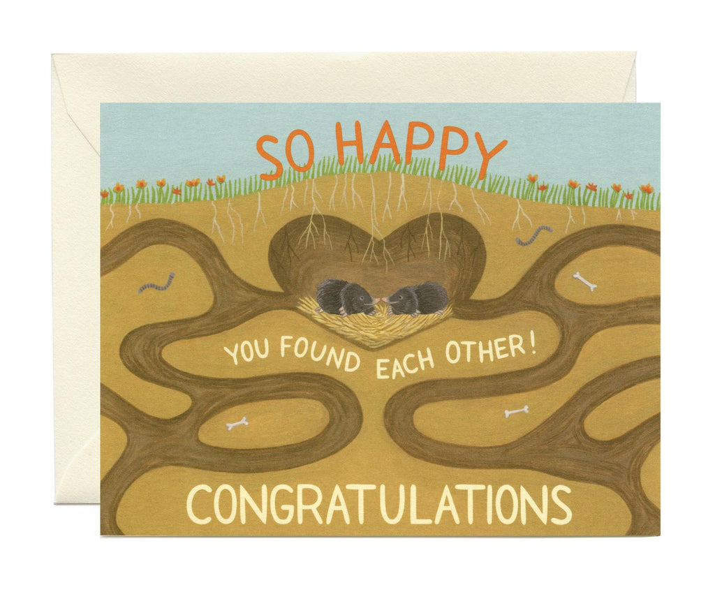 Mole Wedding Card