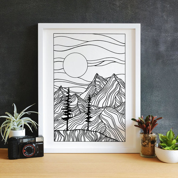 In the Mountains With You Print