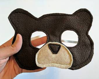 Felt Brown Bear Mask