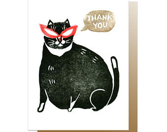 Fat Cat Thank You Card