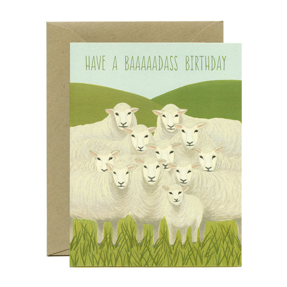Badass Sheep Card
