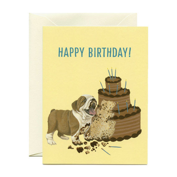 Bulldog Cake Card