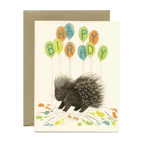 Porcupine Balloons Card