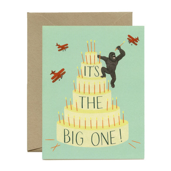 King Kong Cake Card
