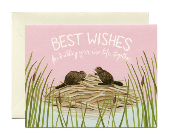 Beaver Best Wishes Card