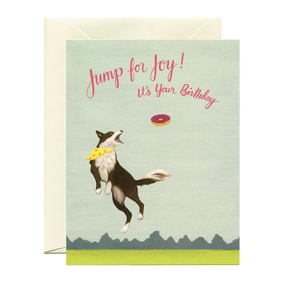 Jumping Dog Card