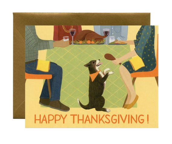 Turkey Leg Thanksgiving Card