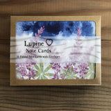 Lupine Folded note card set