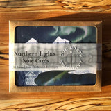 Northern Lights folded note card set