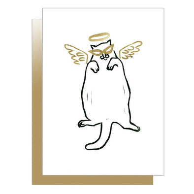 Angel Kitty Cat Card