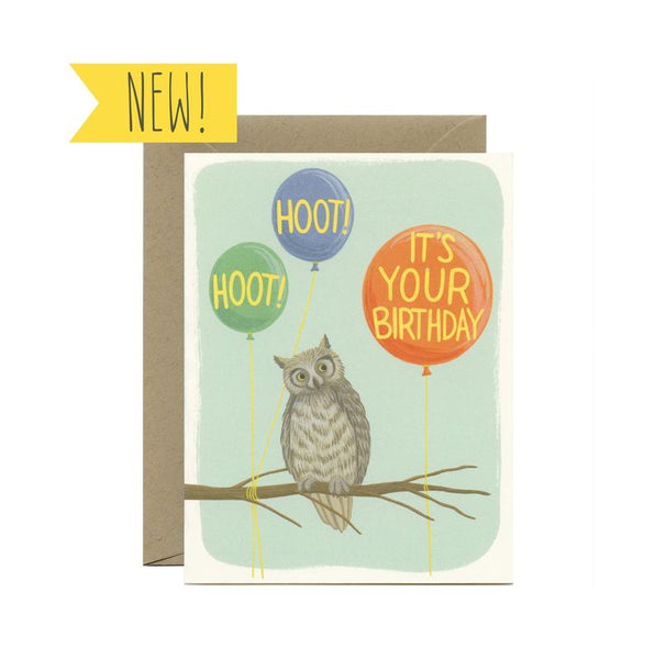 Hoot Hoot Birthday Card