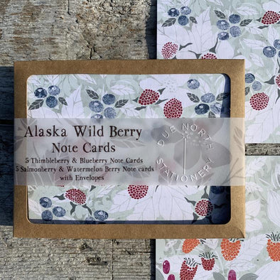 Alaskan Wild Berry note card set