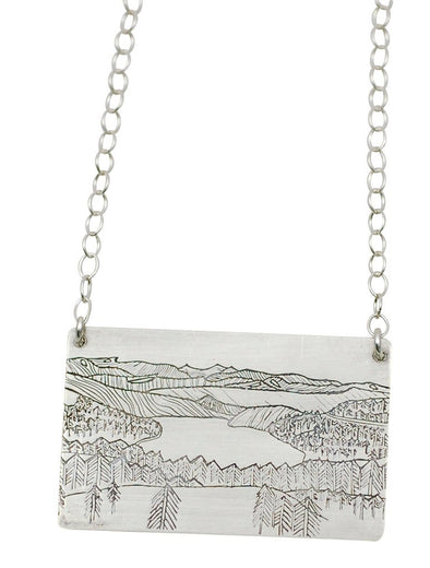 Mountains and Lakes Necklace