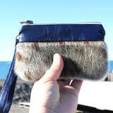 Mini Sealskin Wristlet