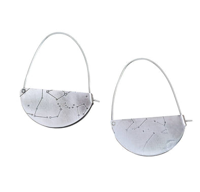 Rivet and Fold Hoop Earrings Small