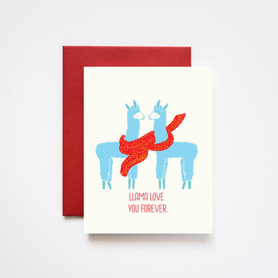 Llama Love You Forever Love Card