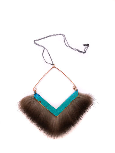 Patina Sea Otter Fur Necklace