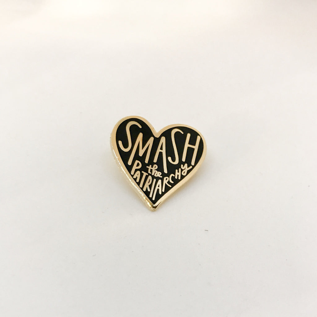 Smash the Patriarchy Heart Pin