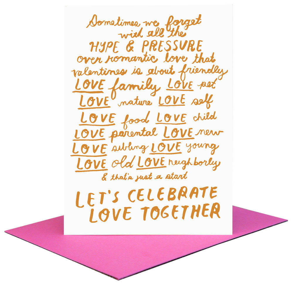 Let's Celebrate Love Letterpress Card