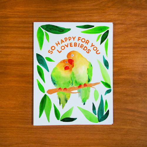 So Happy for you Lovebirds Card