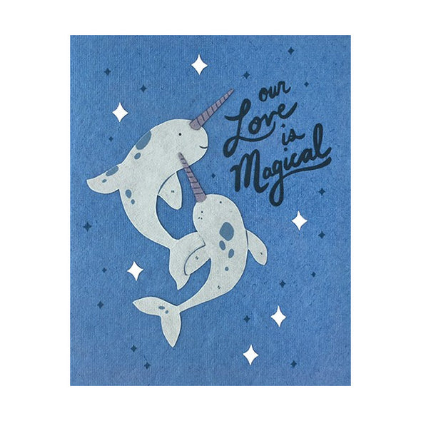 Magical Love Narwhal Card
