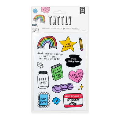 Mixed Feelings Temporary Tattoo Sheet