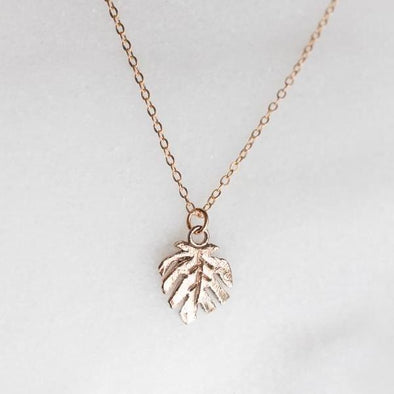 Petite Monstera Necklace