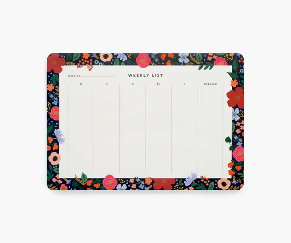 Wile Rose Weekly Desk Pad