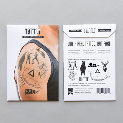 Remix Two Temporary Tattoo Set