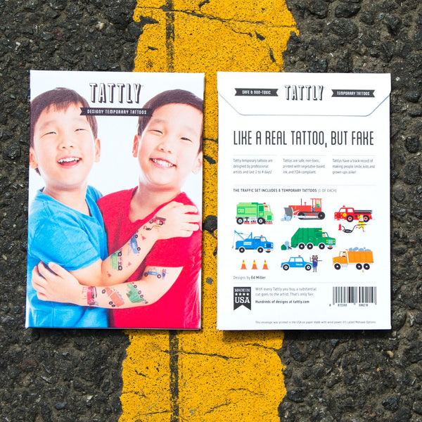 Traffic Temporary Tattoo Set