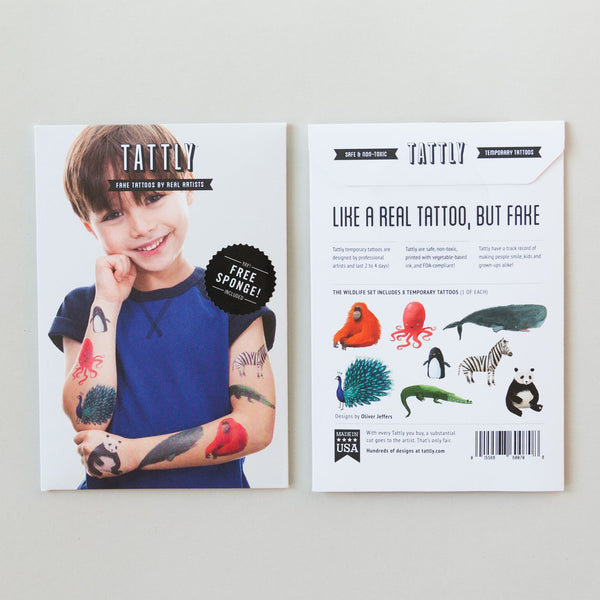 Wildlife Temporary Tattoo Set