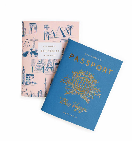 Pocket Notebooks (Set of 2): Passport Bon Voyage