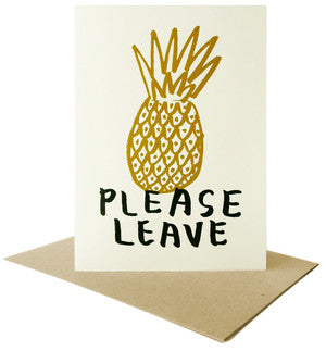 Please Leave Card